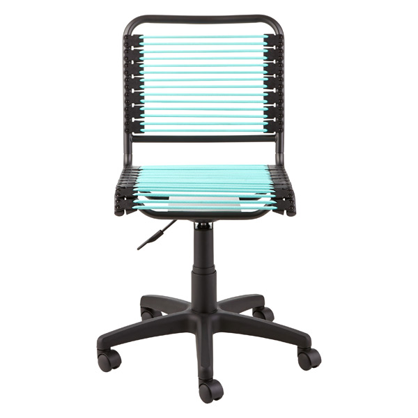 container store chair desk warmer turquoise bungee office the