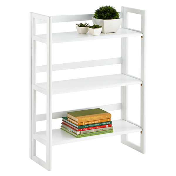 white solid wood stackable
