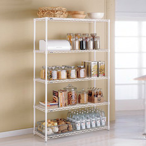 shelves for kitchen menu chalkboard metal intermetro the container store