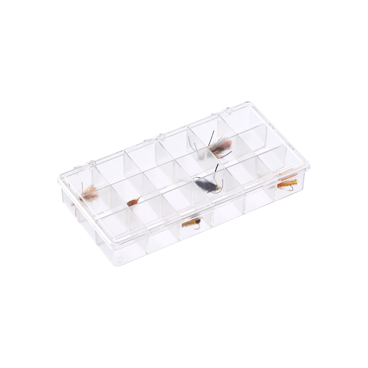 18 Compartment Small Clear Box The Container Store