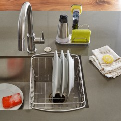Oxo Kitchen Supplies Geeky Gadgets Stainless Steel Sink Organizer The Container Store