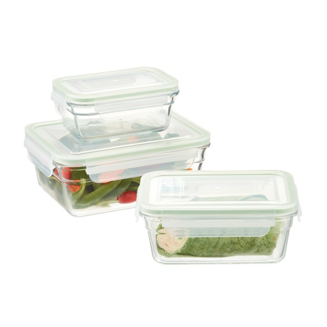 Glasslock Rectangular Food Containers With Lids