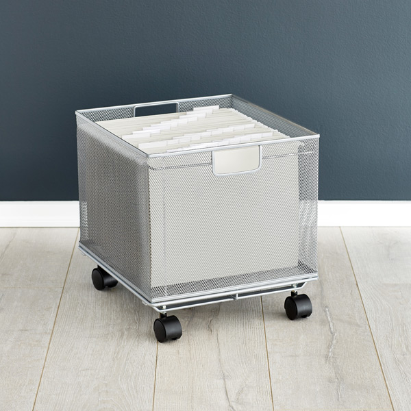 silver mesh stackable file