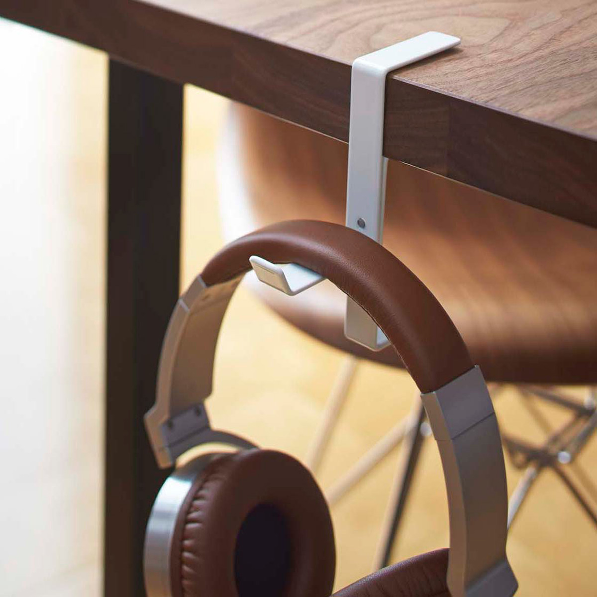 Yamazaki Beautes Desk Headphone Hanger The Container Store