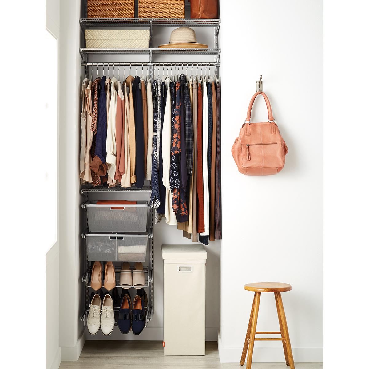 Elfa Classic 3 Platinum Small Space Closet