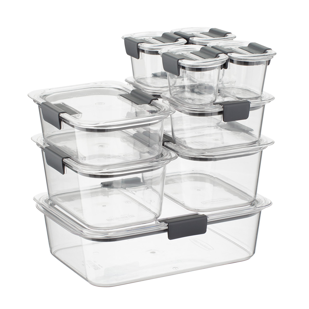 rubbermaid kitchen storage containers glass top table sets brilliance food set of 20 the container store