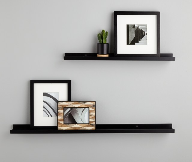 Black Ledge Wall Shelves The Container Store