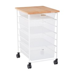 Kitchen Prep Cart Suites White Elfa 7 Runner Mesh The Container Store