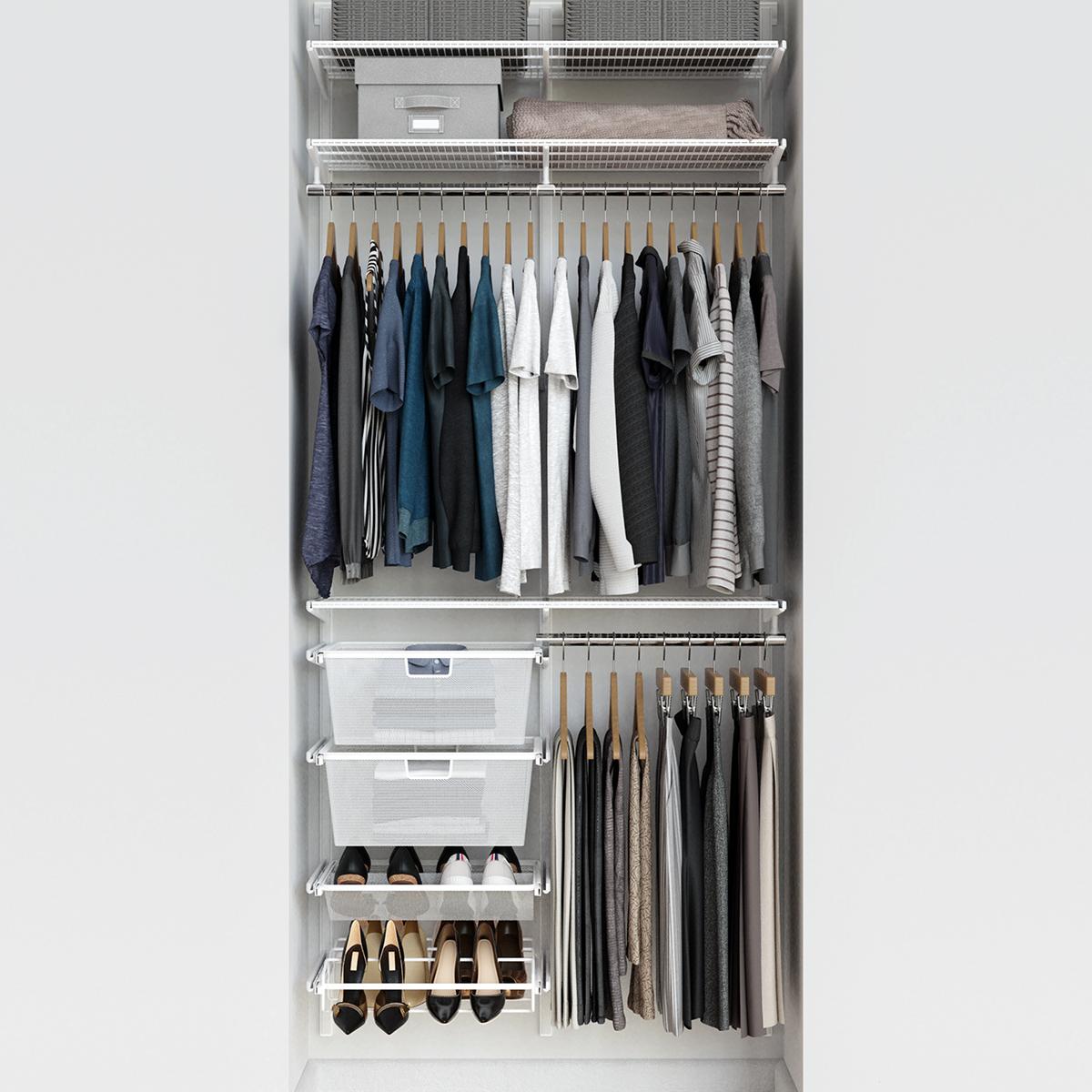 Elfa Classic 3 White Reach In Closet