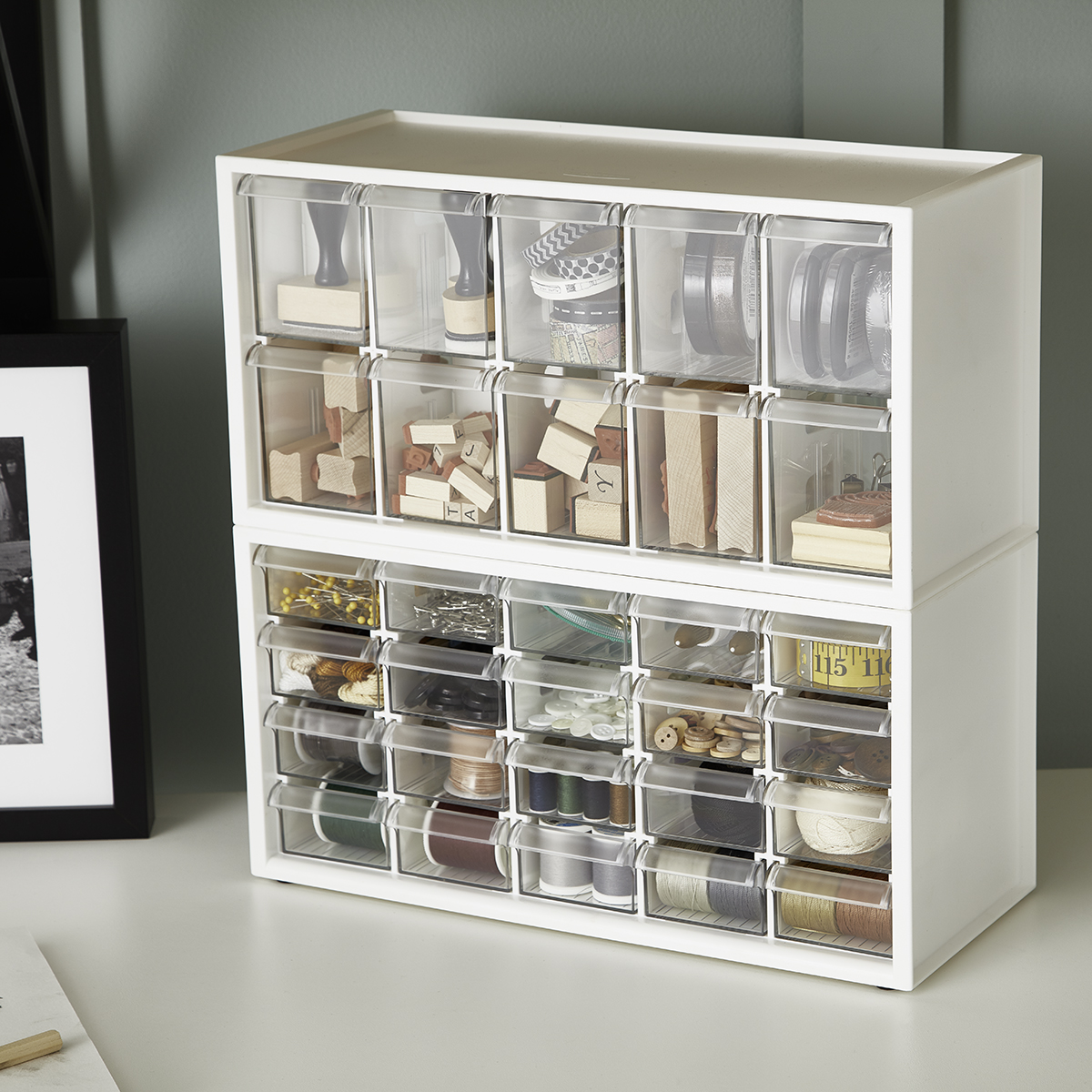 Stackable Craft Organizer Drawers The Container Store