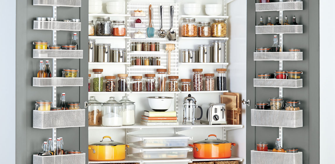ideas for kitchen country cabinets pantry shelving designs shelves pantries elfa inspiration
