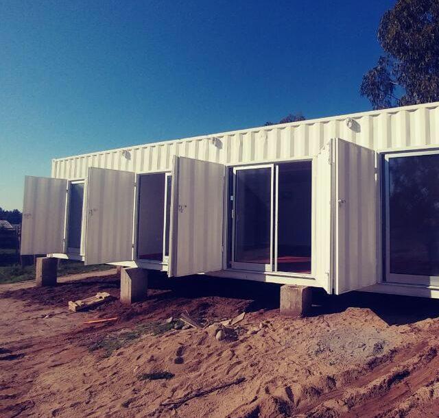 Casa de veraneo en container de 40 pies  boxcontemar
