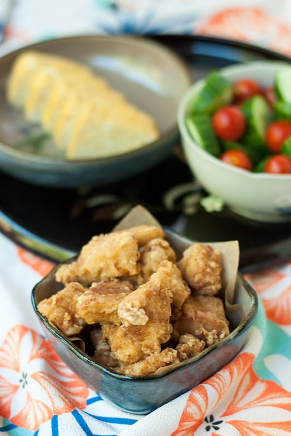 Japanese Fried Chicken with two ingredient marinade