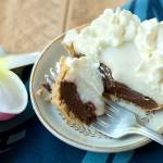 Hawaiian Chocolate Haupia Pie