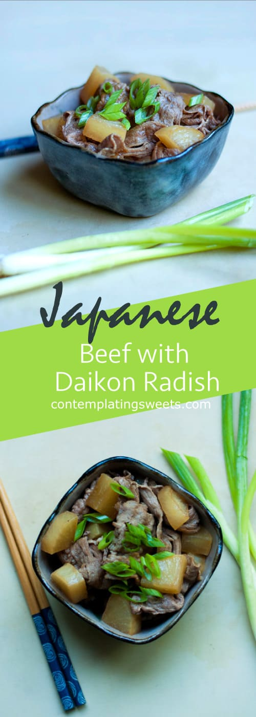 Beef with Daikon Radish- Japanese dinner