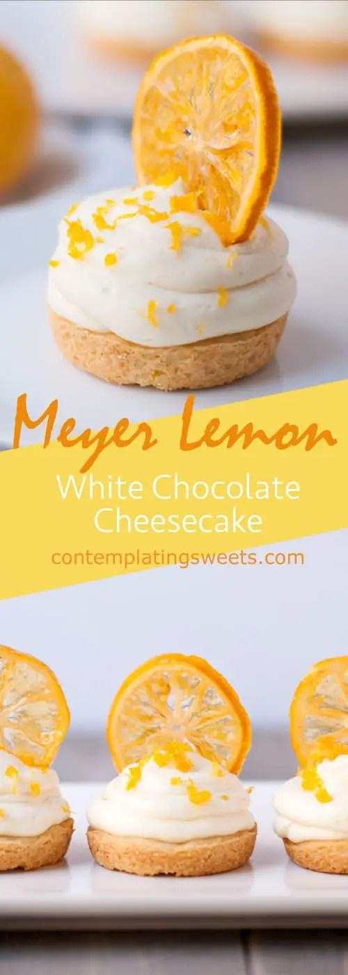 Meyer lemon white chocolate cheesecake