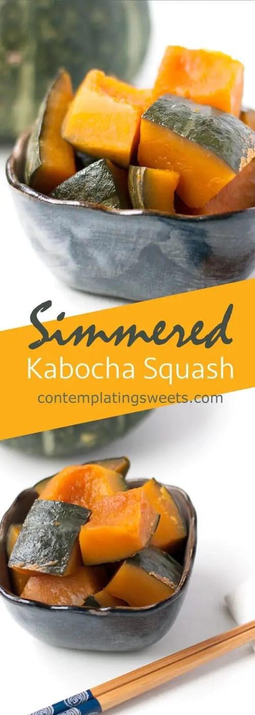 Simmered Kabocha Squash aka kabocha no nimono