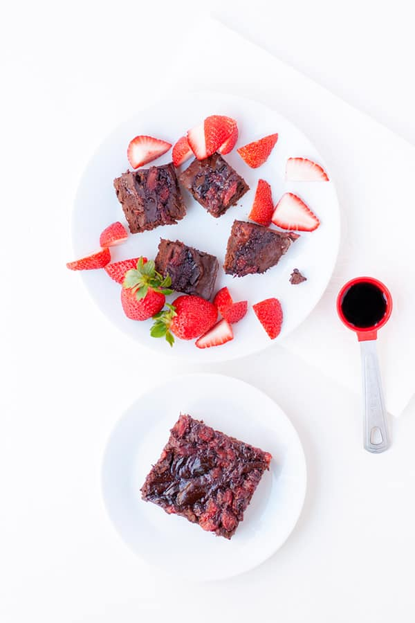 Strawberry Balsamic Brownies