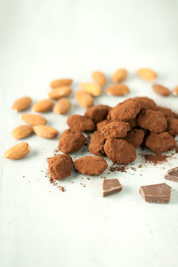 Chocolate Covered Caramel Almonds