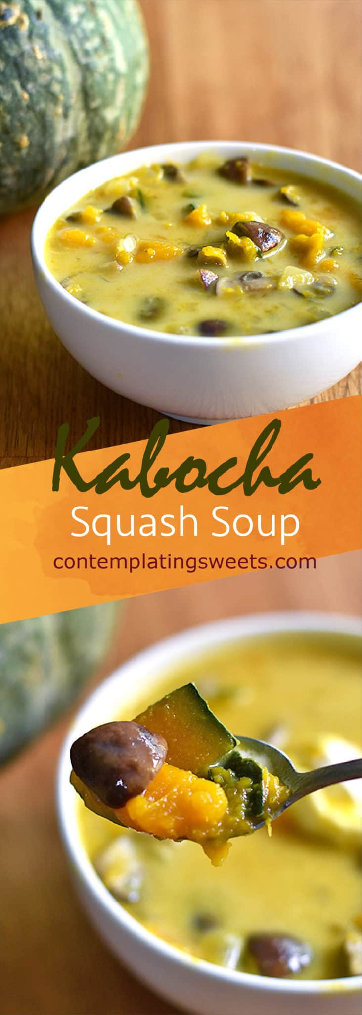 This kabocha squash soup is naturally sweet, and uses just a few simple ingredients to make a comforting and delicious winter soup.