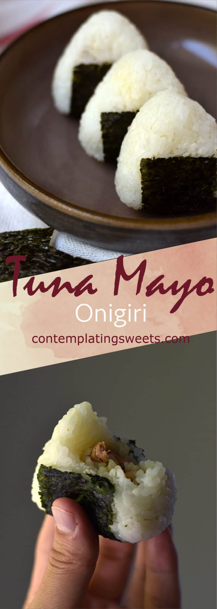 Tuna mayo onigiri, or rice ball, is a simple and delicious Japanese snack. Rice is filled with a flavorful tuna and mayonnaise, shaped, and wrapped with a sheet of nori (seaweed).