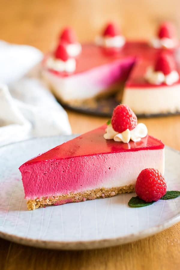 Pink Ombré Cheesecake