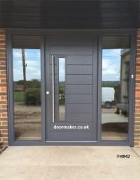 Contemporary Front Doors, oak iroko and other woods