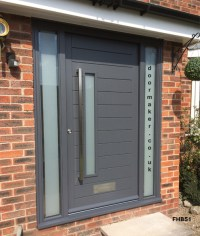 Contemporary Front Doors, oak iroko and other woods