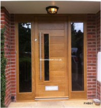 Contemporary Front Doors, oak iroko and other woods ...