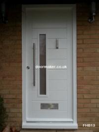 Modern White Front Doors