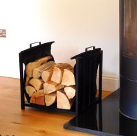 Vail Fireplace Log Holder and Log Carrier