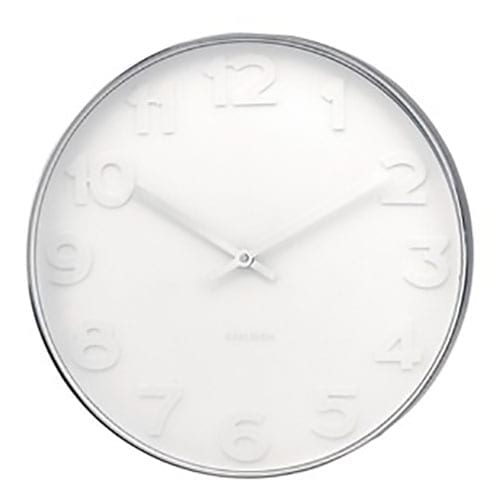 Karlsson Mr White Numbers Wall Clock | Large