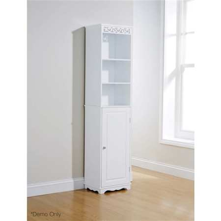Lure Tall Cupboard in White