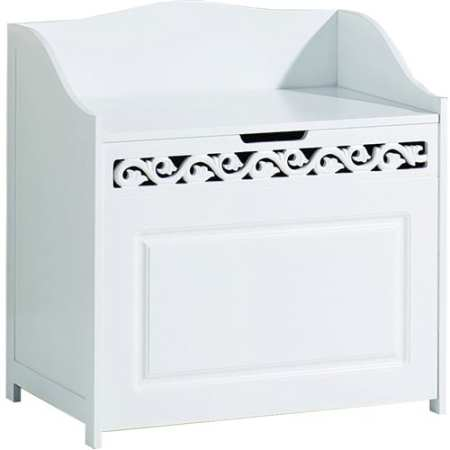 Lure Floor Hamper in White