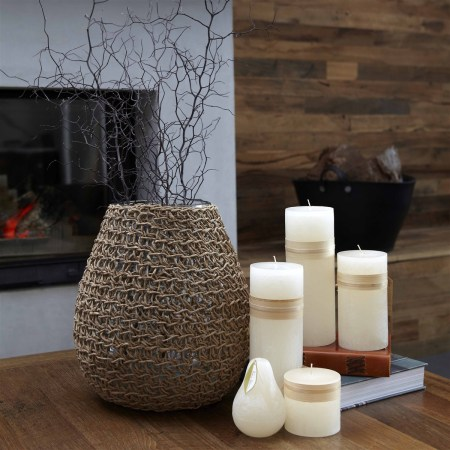 Koh Hurricane Vase / Candle Holder | Brown