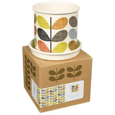 Orla Kiely Planter Pot Scribble Stem | Medium