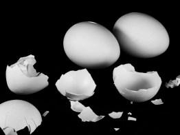image of broken egg shells