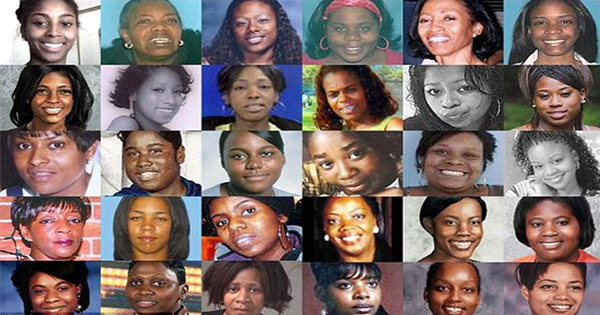 collage of the faces of many black women currently or formerly missing
