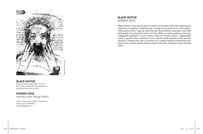 Black Notice by Ntando Cele, from Emergency Index Vol. 3