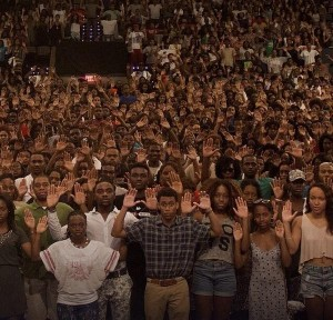 Protest at Howard University, USA, 13 August 2014.