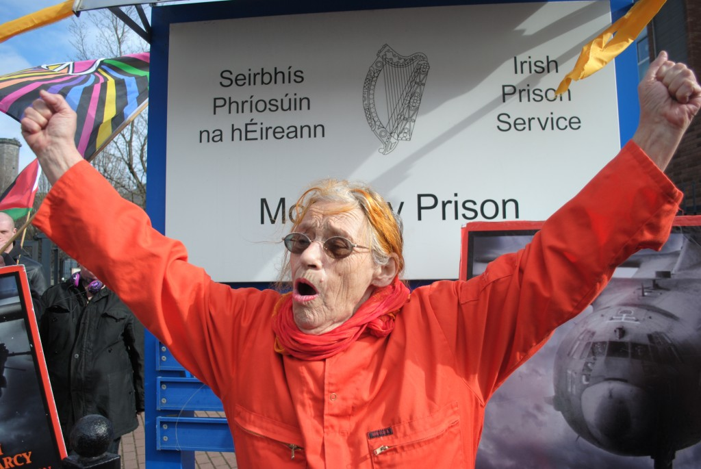 Margaretta D'Arcy released from Mountjoy prison, 2014