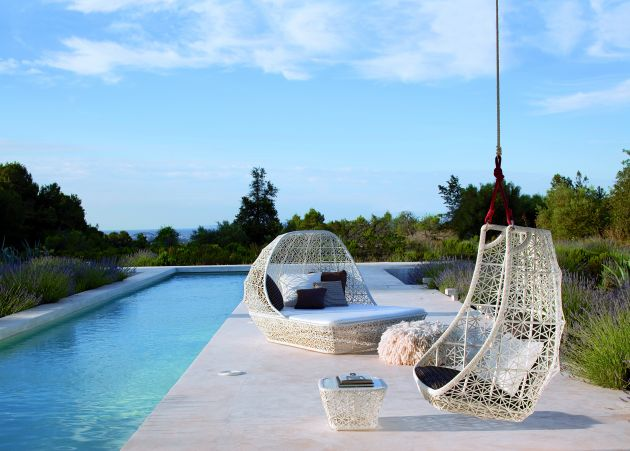 swing chair patricia urquiola hanging egg shaped by contemporist