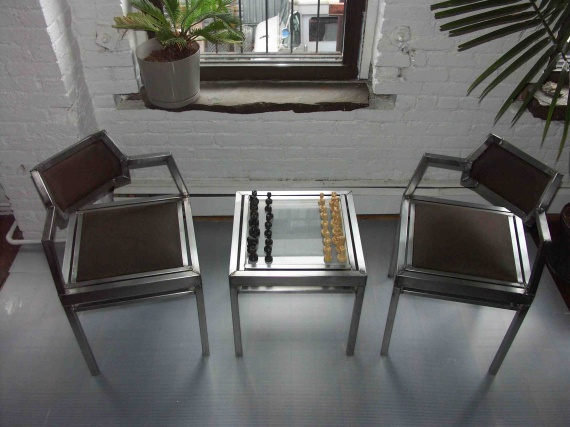 chess table and chairs deck for boats contemporist