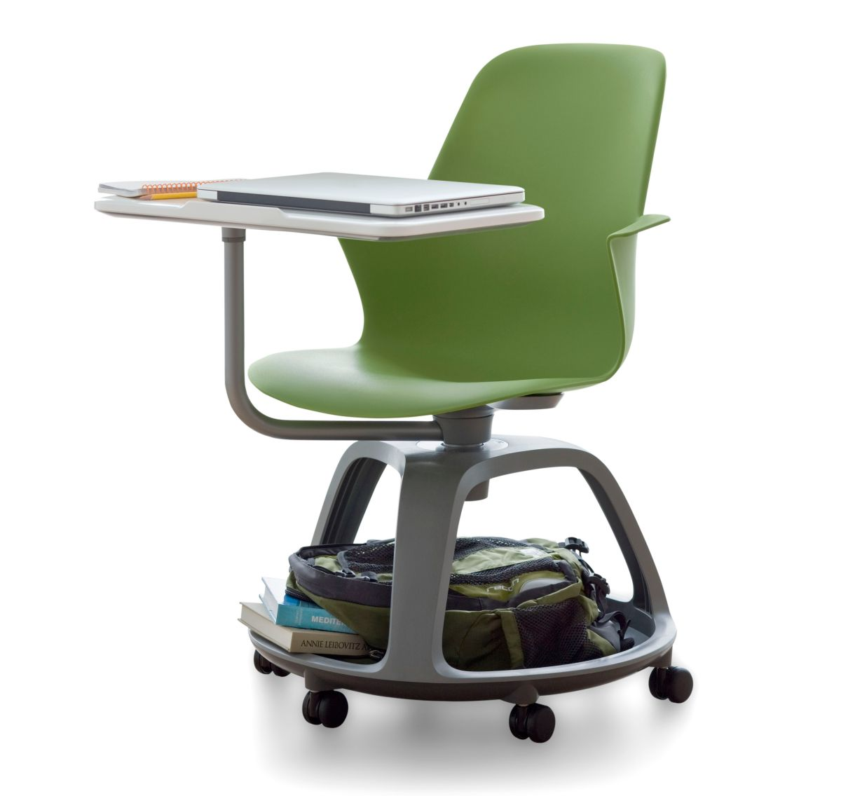 revolving chair in surat deep seating patio chairs steel 140610 14 contemporist node by steelcase at neocon 2010
