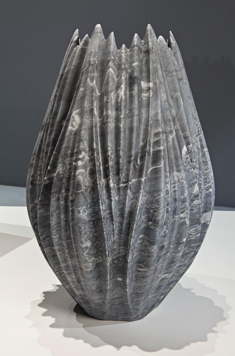 Zaha Hadid Creates The Tau Vase From Marble