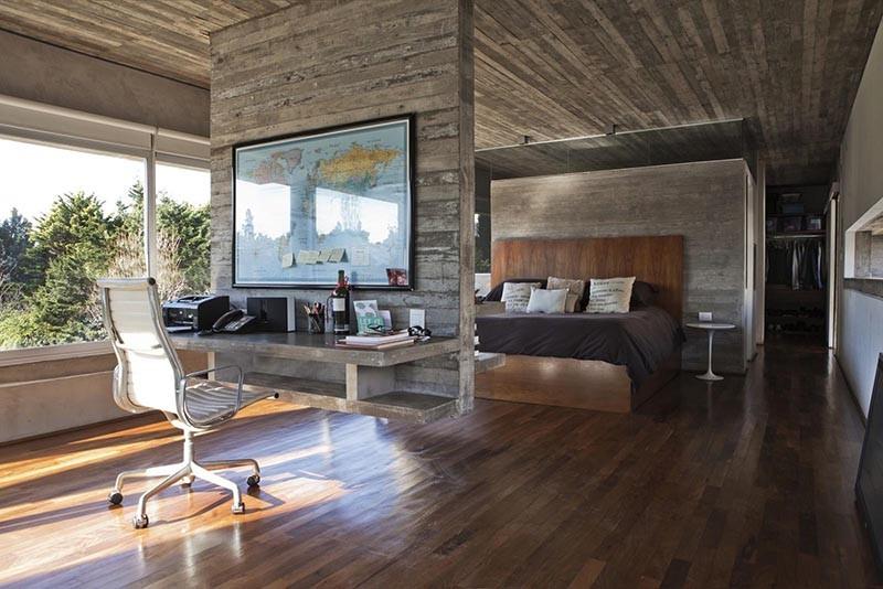 Design Detail  A Hanging Concrete Room Divider