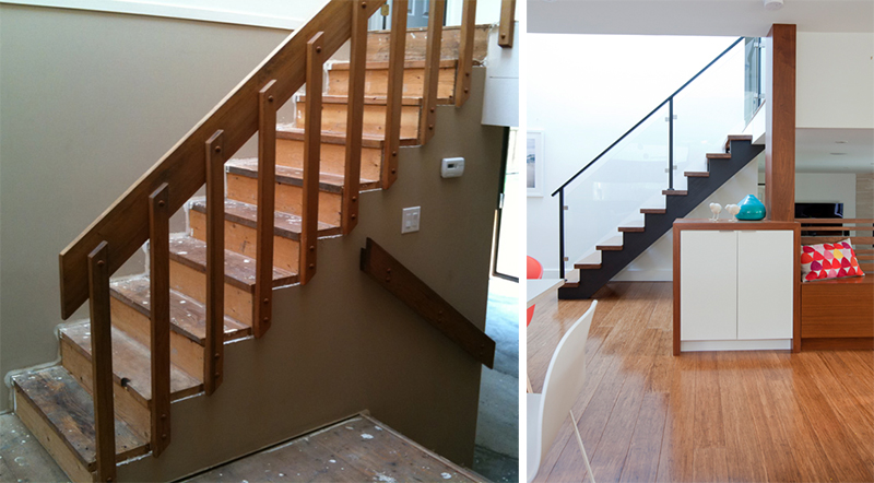 Before Amp After The Transformation Of A Split Level House