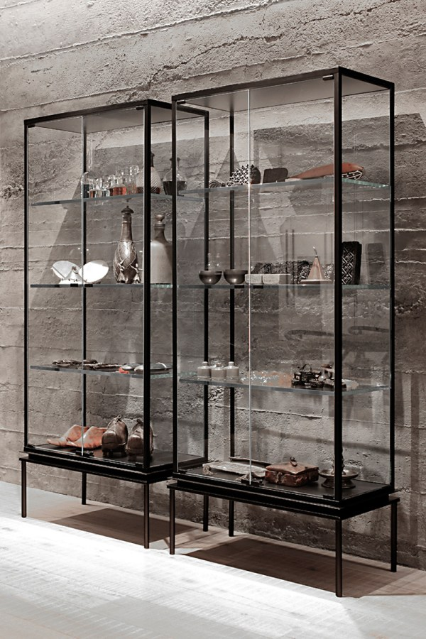 Cabinet with Glass Display Case
