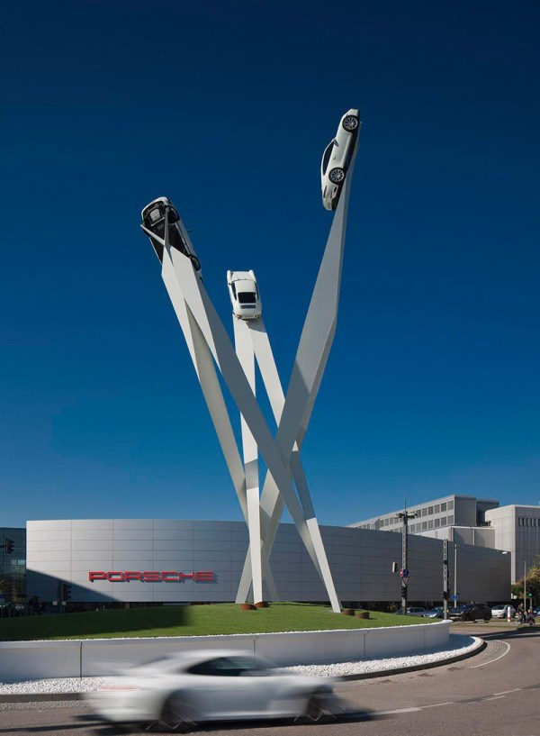 Gerry Judah Completes Sculpture Porsche