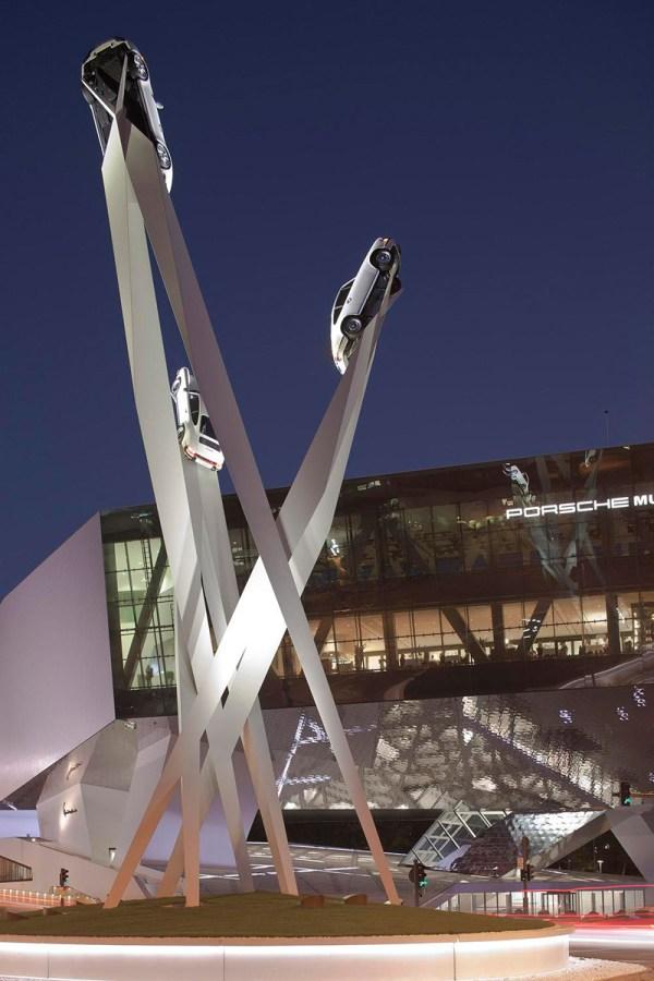 Gerry Judah Completes Sculpture Porsche Museum In Stuttgart Contemporist